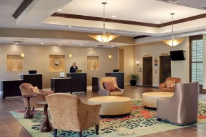 lobby seating and front desk