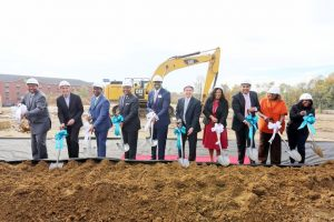 breaking ground for new hotel
